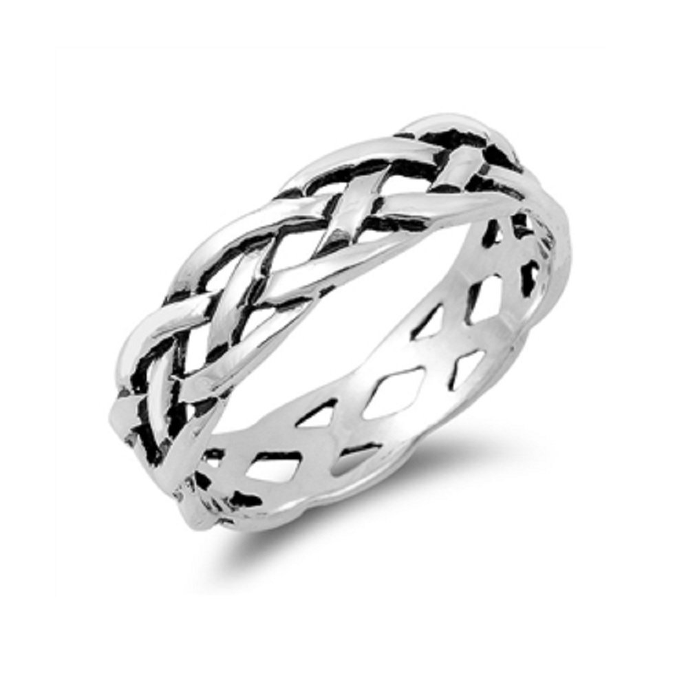 CloseoutWarehouse Sterling Silver Eternity Braided Ring Size 6