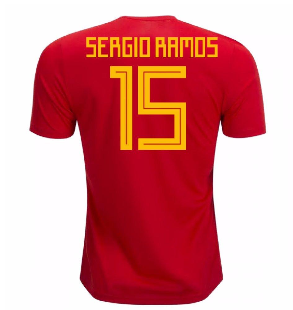 2018-19 Spain Home Football Soccer T-Shirt Trikot (Sergio Ramos 15)