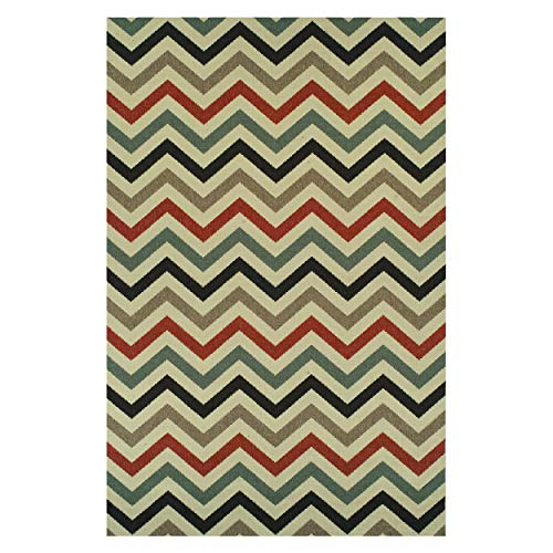 Superior Chevron Collection 4' x 6' Area Rug, Indoor/Outdoor for sale  Delivered anywhere in Canada
