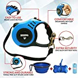 Bonna Retractable Dog Leash for Medium - Small Dogs and Cats 16.5FT Tangle Free, Heavy Duty Walking Leash with Anti Slip Handle, Pause and Lock Strong Nylon Tape, Dog Leash Retractable