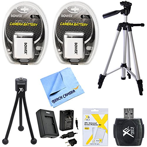 - NB-6L 2X Battery Charger Full & Table Top Tripod Micro Fiber Cloth USB Card Reader 8PC Kit for Canon Powershot SD770IS SD1200IS D10 SD3500 IS, SD980 IS, SX270 HS, SX280 HS, CB-2LY Digital Cameras