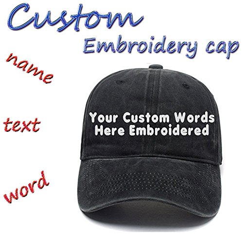 Custom Embroidered Adjustable Baseball Hat Embroidery Cowboy Caps Men Women Text Gift (Jersey Vintage Cap)