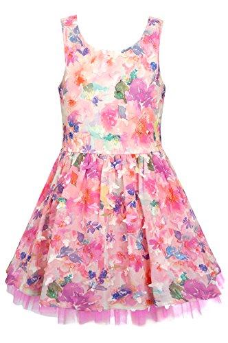 Baby Sara, Little Girls' Embellished Dresses (Many Options), 12M-24M, 2-6X (5, Pink Multi) - Sara Girls Clothing