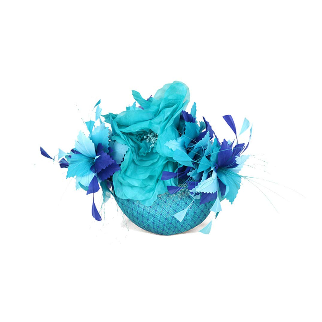 YALOEE Gauze Hats for ❣Women Fashion Banquet Elegant Appealing Blue Fascinator Hat