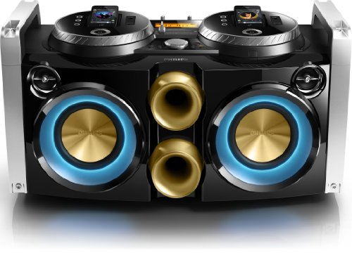 Philips FWP3200D Mini Hi-Fi System Mix like a DJ 30-pin dock 100 - 240V AC, 50/60Hz for iPod, iPhone USB by Philips