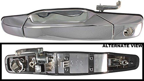 APDTY 91657 Exterior Door Handle Chrome Fits Front Left 2007-2014 Avalanche Escalade Silverado Sierra Tahoe Yukon (Replaces 25960525, 20828258, 25960525)