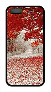 iPhone 5 5S Case Nature Red Leaves TPU Custom iPhone 5 5S Case Cover Black by icecream design