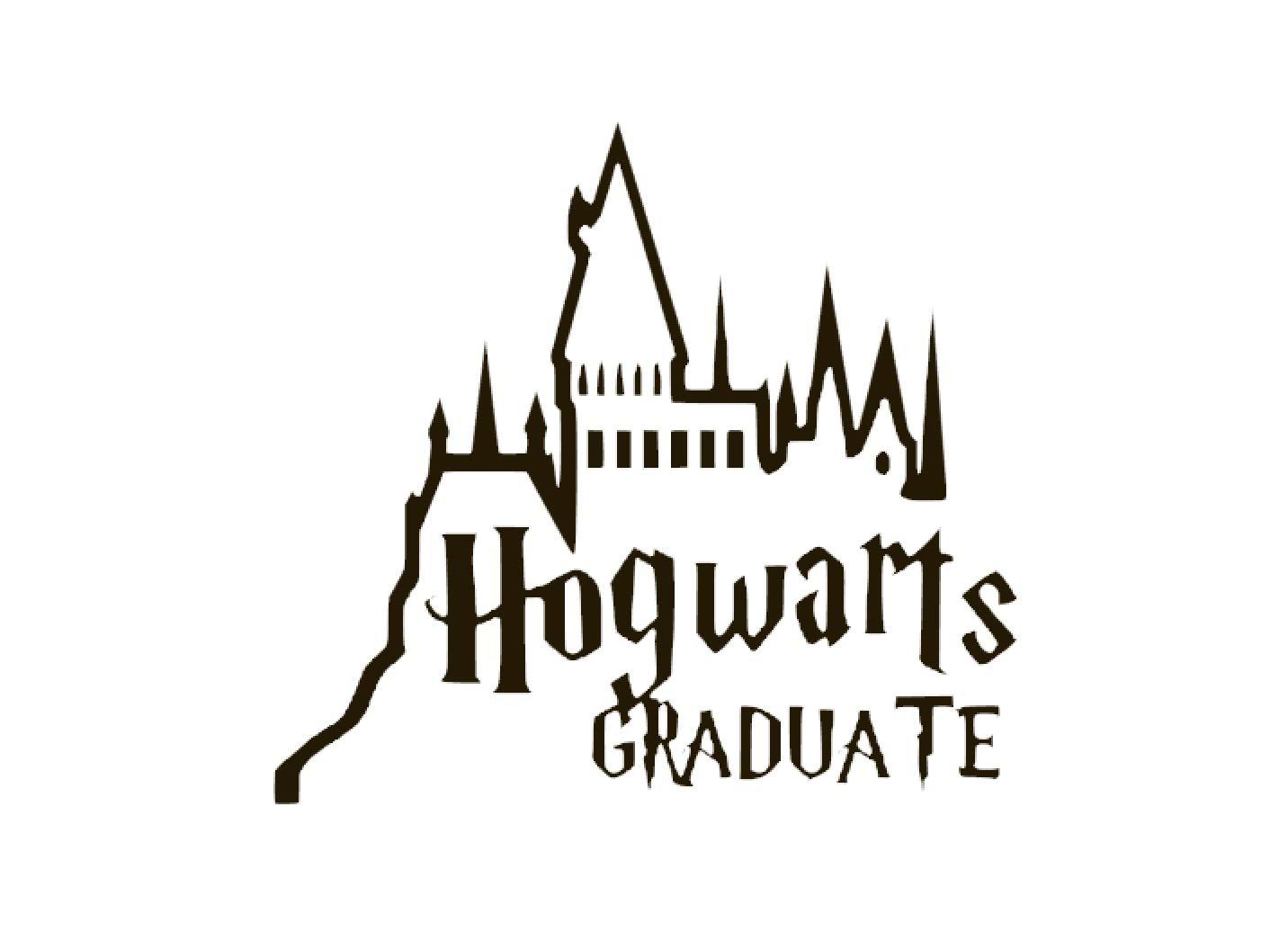最新作 Hogwarts 卒業式ビニールステッカーデカール カーバンパー ウィンドウ MacBook Pro ノートパソコン iPad ブラック iPhone ブラック iPhone 用 6