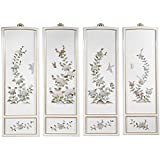 Oriental Furniture Birds and Flowers Wall Plaques
