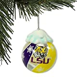 LOUISIANA STATE LSU FIGHTIN TIGERS Light Up Holiday Ball CHRISTMAS ORNAMENT With Rotating Colors