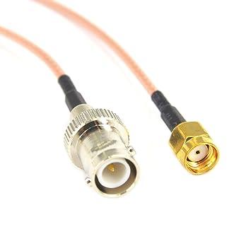 SMA a BNC Adaptador RP SMA macho a RP hembra BNC Jack divisor extensión wifi antena