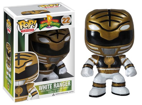Funko POP Television: Power Rangers White Vinyl (White Power Ranger Morph Suit)