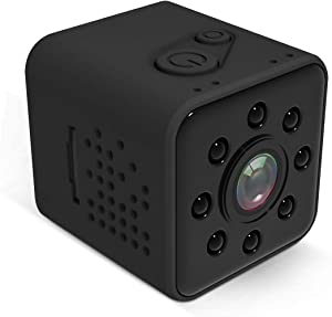 SQ23 HD WiFi Mini Camera 1080P Car Dash Cam Sports DV Car DVR Recorder, Waterproof Super Wide Angle Lens 155 Degree, IR Night Vision Motion Detection Video Sensor for Vehicle Home Office Camcorder