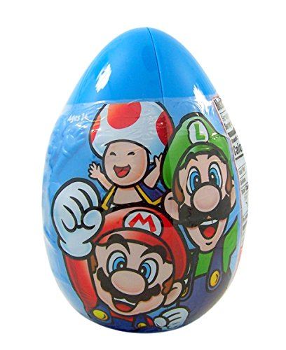 Super Mario Giant Easter Egg Assorted Candy Mix, 3.75 oz (Super Mario Surprise Eggs)