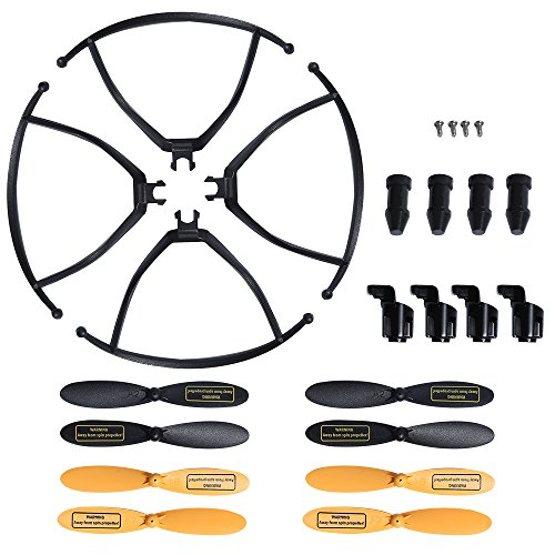 4 Spare Parts - Holy Stone HS150 RC Racing Drone Quadcopter Spare Parts Crash Pack (8 Spare Blades + 4 Propeller Guards + 4 Landing Pads + 4 Motor Guards + 4 Screws for Drone)