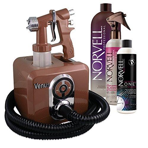 Venus Spray Tanning Machine Kit with Norvell Sunless Airbrush Tanning Solution (Bronze)