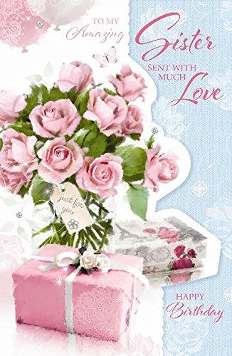 Amazing hermana Sólo para ti rosas y regalos. Gran tarjeta ...