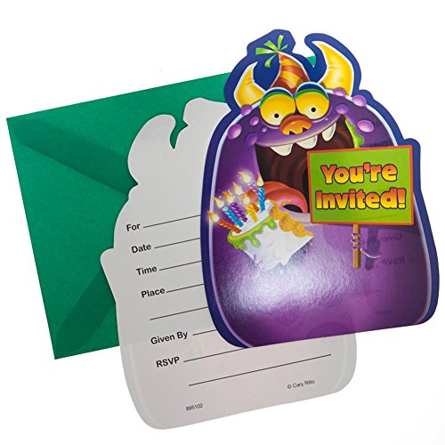 Party Mania Costumes (Monster Mania Postcard Invitations (8) Party Accessory)
