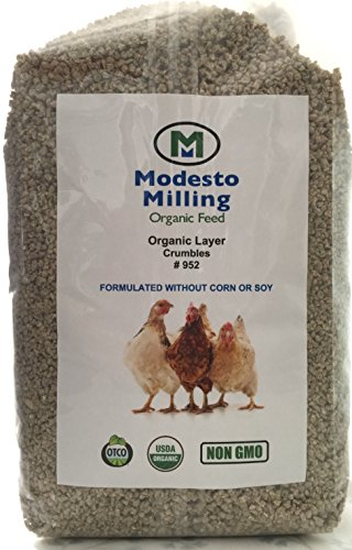 Modesto Milling Organic, Non-GMO Layer Crumbles for Chickens, Formulated without Corn or Soy, 10lbs