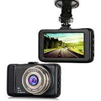 Dash Cam,EVASA 150° Wide Angle Full HD 1080P with G-Sensor,Night Vision,WDR,Loop Recording,3.0 LCD Dashboard Camera Recorder (Black)