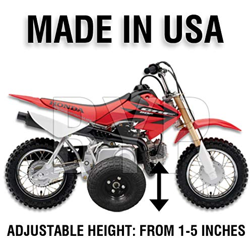 BYP_MFG_INC Adjustable Height Honda CRF50 / XR50 / Z50R Kids Youth Training Wheels ONLY by BYP_MFG_INC