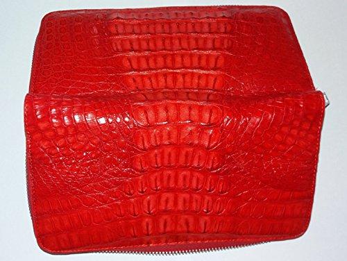 véritable peau de crocodile Mesdames sac à main rouge