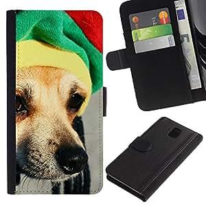 Caucho caso de Shell duro de la cubierta de accesorios de protección BY RAYDREAMMM - Samsung Galaxy Note 3 N9000 N9002 N9005 - Funny Vodka Dog Chihuahua