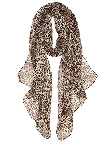 Lightweight Fashion Scarves for Women Floral Spring Scarves Animal Scarfs for All Seasons Leopard