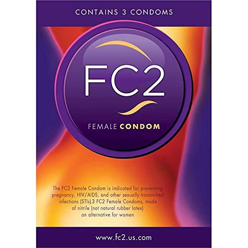 Female Contraceptive Condom for Pregnancy and Disease Prevention, 3 Count Bulk