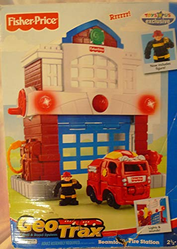 - Geo Trax Beamtown Fire Station w Lights, Sounds & Fireman Figure Toys