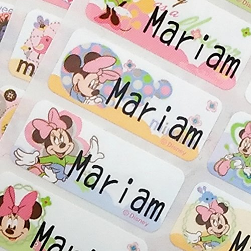 (VivaLabels Character Name Stickers, Name Labels: Minnie Mouse,Winnie the Pooh bear, Disney (120 pieces, Waterproof, Personalized Labels))