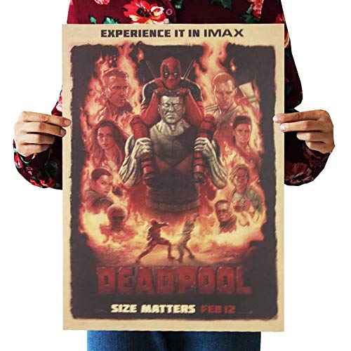 hfwh Pegatinas de Pared, Marvel Película Cartel Kraft Papel ...