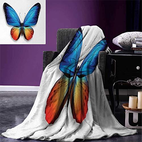 AIIMILL manta con diseño de mariposas, arpa y mariposas, instrumento musical clásico, temática de concierto, cálida...