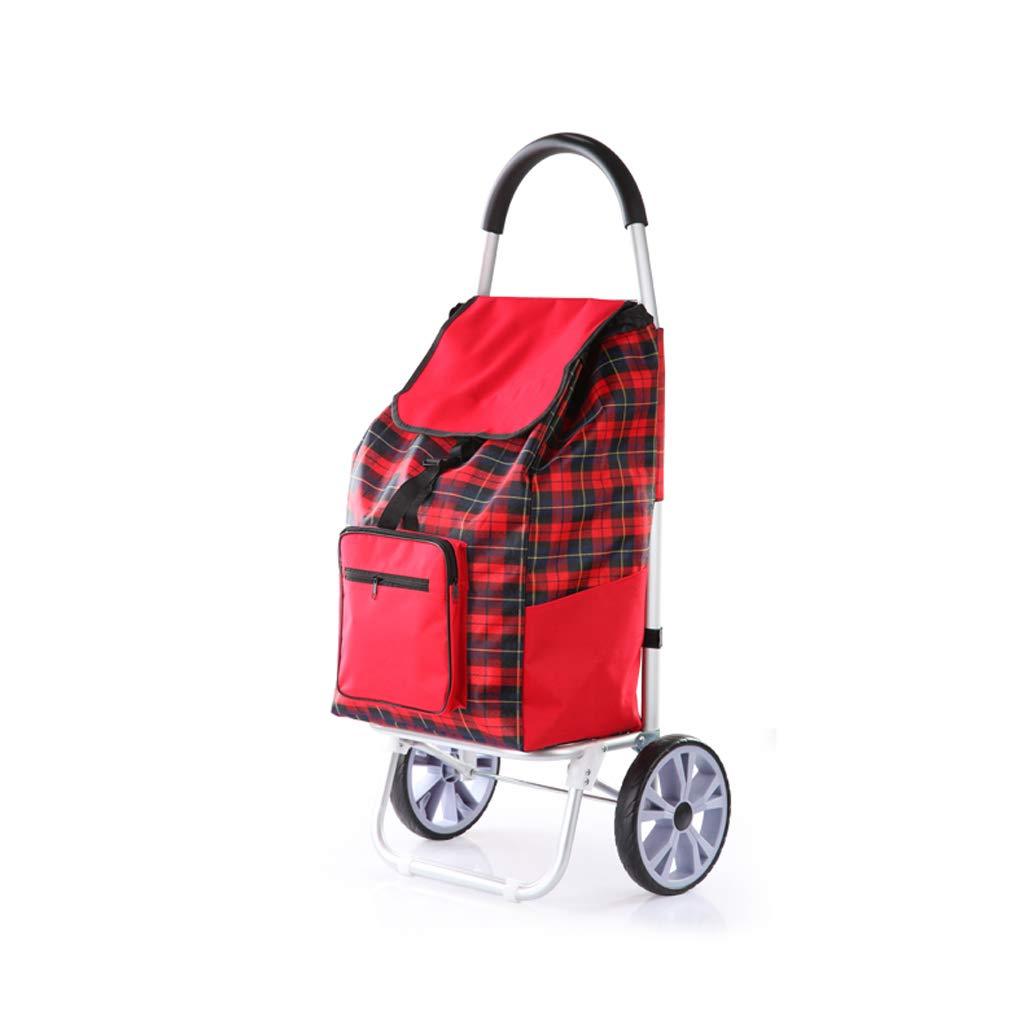 ショッピングカートでトロリー軽量2輪大容量ショッピングトロリーバッグは、サポートバーとジッパーポケット付きの移動性を助けます436 X 20 X 100cm B07KKDH1SK