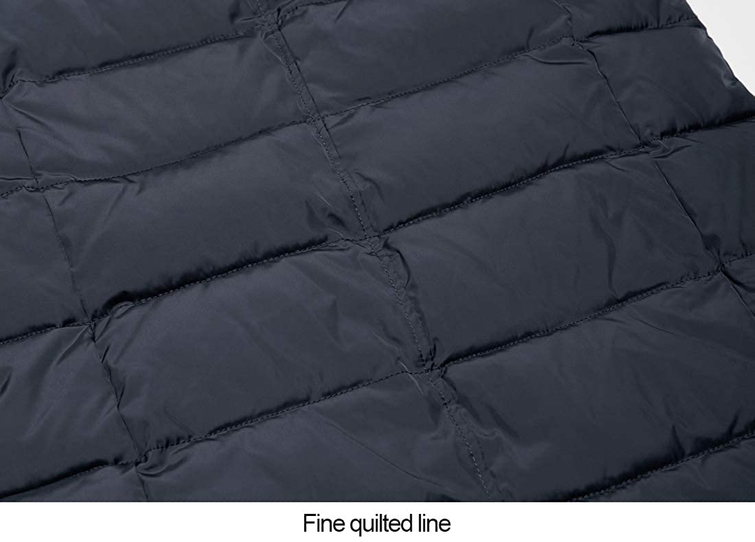 ICEbear Mens Long Down Jacket Winter Parka Quilted Coat Outerwear with Hood