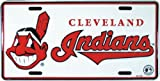Indians Classic Metal Auto Tag Embossed