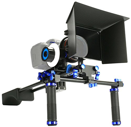 MARSRE DSLR Shoulder Rig Film Movie Video Making System Kit with Follow Focus and Matte Box For Canon Nikon Sony and Other DSLR Cameras Video Camcorders by MARSRE