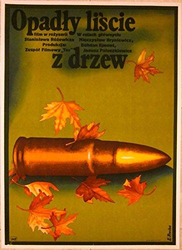 VINTAGE 1975 POLISH LINEN BACKED POSTER -OPADTY LISCIE Z DRZEW - COOL BULLET ART