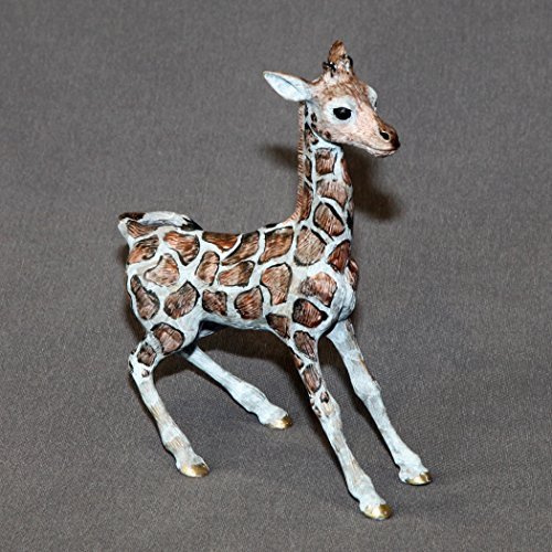 Bronze Giraffe Baby Figurine Sculpture Art Limited Edition Signed and Numbered