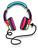 Nipitshop Patches Colorful Speaker Headsets Patch