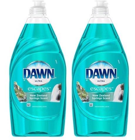 Dawn Ultra Escapes Dishwashing Liquid 8 Oz., New Zealand Springs, Set Of (Dawn Liquid)