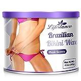 10.5 Oz Brazilian Bikini Wax, Lifestance Hair Removal Depilatory Hard Wax European Pearl Beads Home Waxing Kit for Women Men