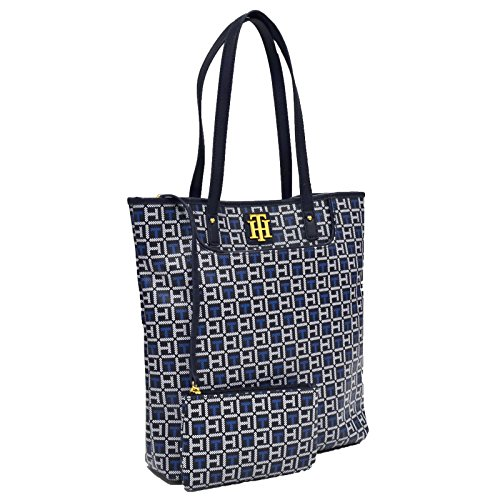 Tommy Hilfiger Tote and Coin Purse Combo (Blue)