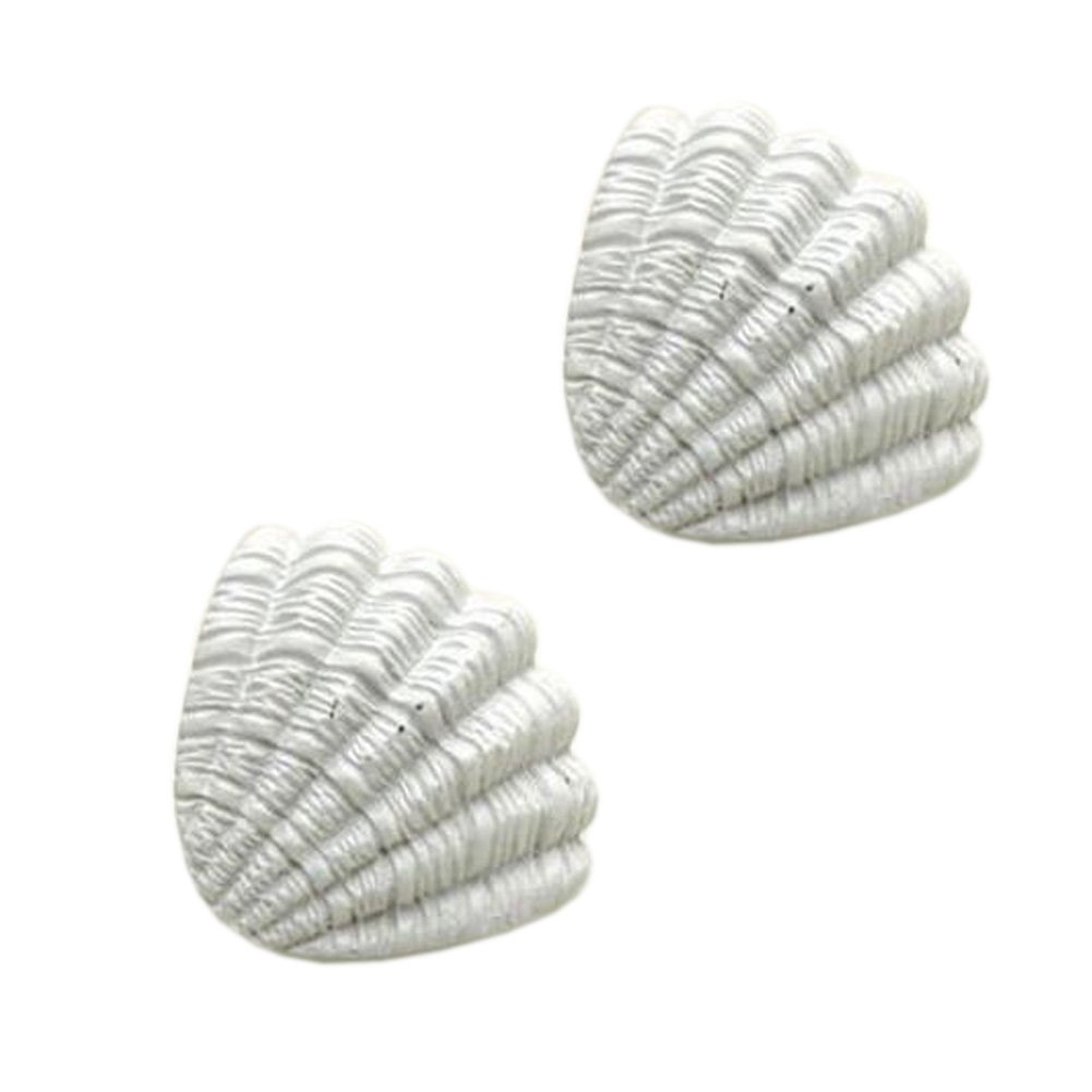 Blancho Ocean Style Drawer Pull Handles Cabinet Knobs Set Of 2, White Shell Blancho Bedding