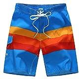 SUNVP Men Summer Casual Colorful Fast Dry Beach Board Short Swim Trunk Rainbow