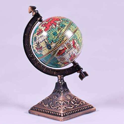 Metal Die Cast World Globe Sharpener Collectible Miniature Figurine - Pencil Sharpen Dollhouse 1:12 Scale - Travel Gift