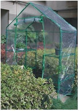Gran paseo de invernadero con estantes para jardín al aire libre plástico invernaderos: Amazon.es: Jardín