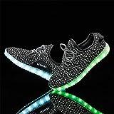 LeoVera Unisex LED Shoes USB Charging Flashing