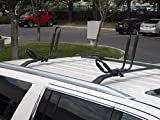 ToughSteel® 2 Pair 4 Racks Universal Black J Shape Steel Kayak Canoe Boat Paddleboard Surfboard Snowboard Wakeboard Ski Roof Rack Car SUV Jeep Top Mount Crossbar