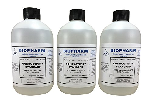 Calibration Solution Conductivity - Conductivity Calibration Standard 3-Pack 500 ml Each 84 US, 1,413 uS and 12,880 uS